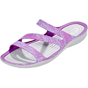 Crocs Swiftwater Graphic - Sandales Femme - gris/violet